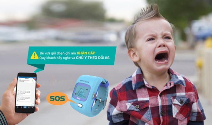 Đồng hồ Kiddy bảo vệ trẻ hiệu quả với tính năng SOS