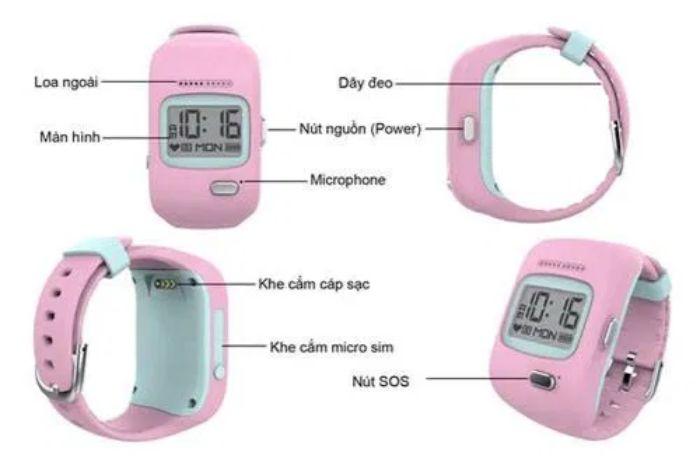 Đồng hồ định vị trẻ em Kiddy – đồng hồ điện thoại Viettel