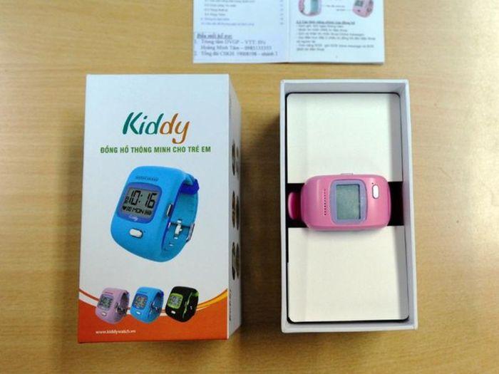 Đồng hồ Kiddy với thiết kế dễ thương, bắt mắt