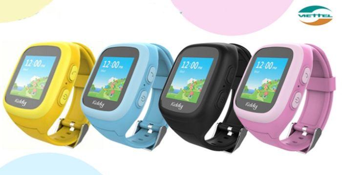 Đồng hồ đeo tay Kiddy với thiết kế đẹp mắt, thân thiện với trẻ nhỏ